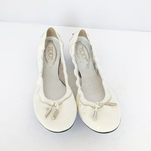 Tod's white Patent Leather Ballet Flats Women 9